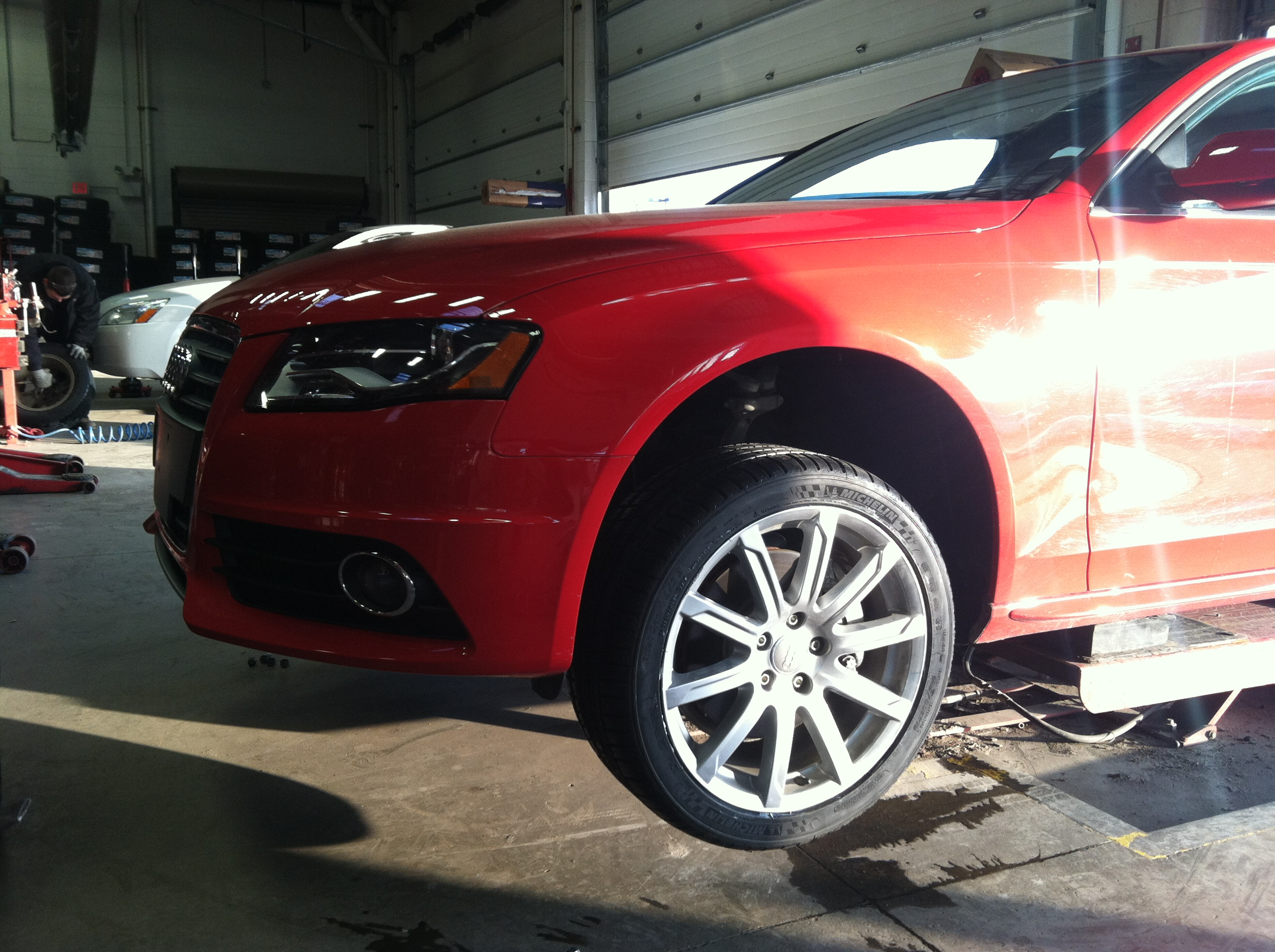 The A4 Avant  gets new shoes - January 2013.