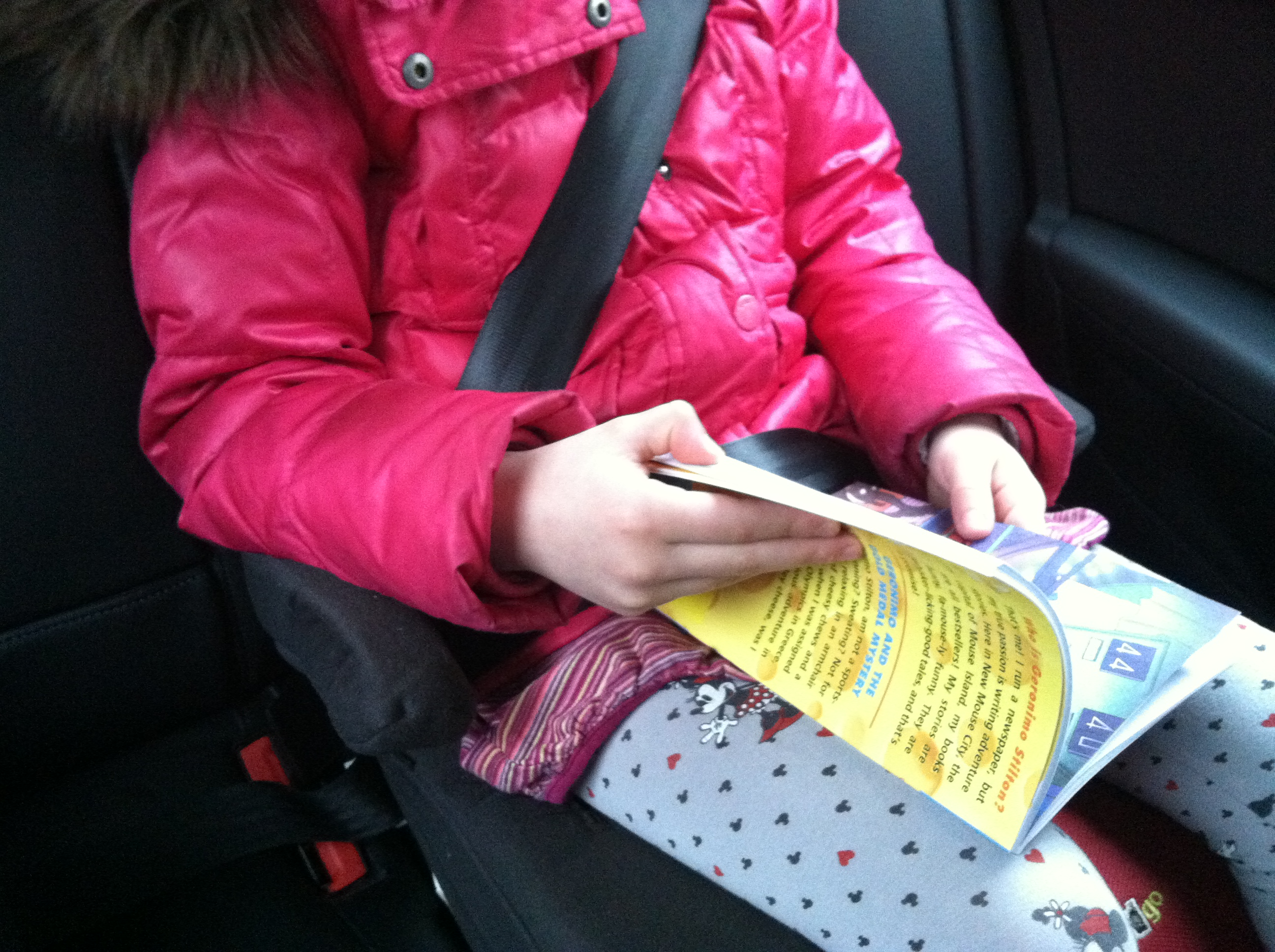 A stable, drama-free ride means you can read your favorite Geronimo Stilton books while Mom drives.