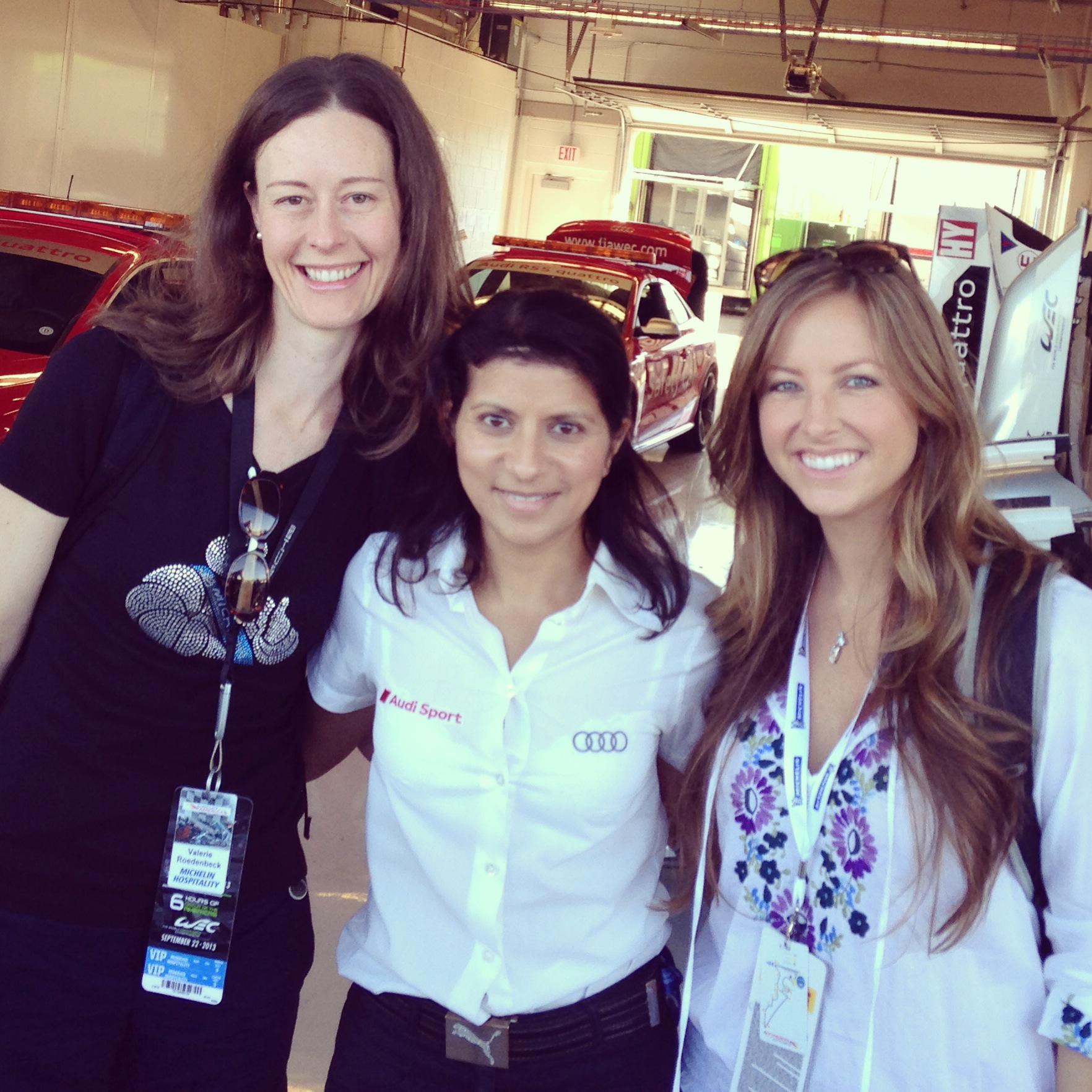 Audi Sport's Leena Gade takes a moment to chat with APEX members