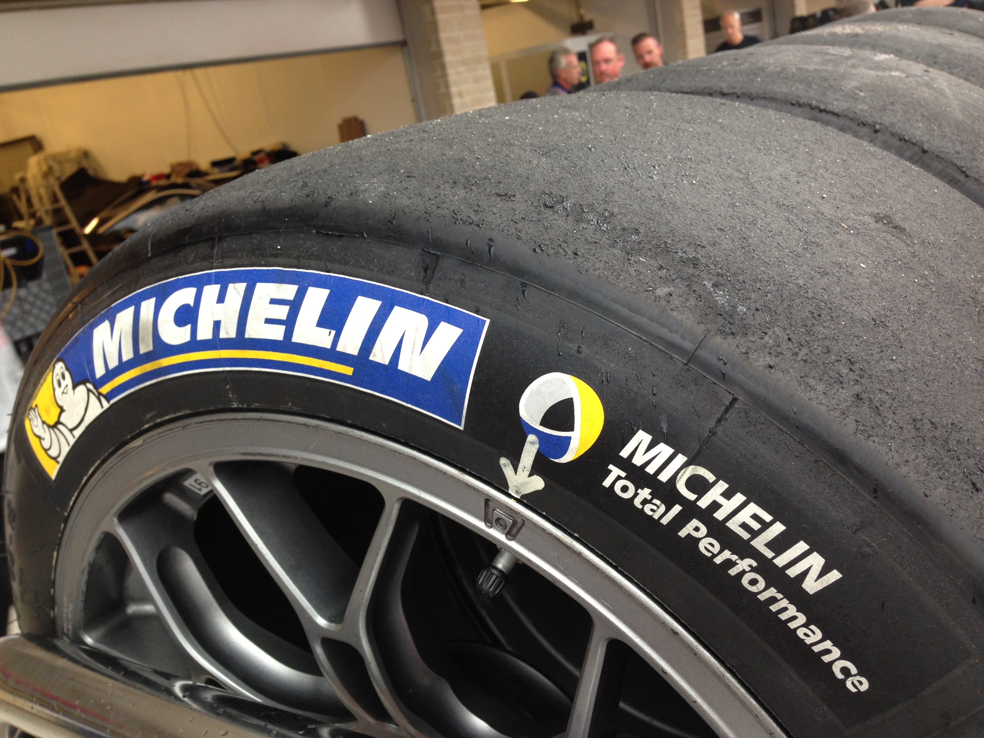 One of the thousands of Michelin competition tires spotted at COTA for the ALMS/FIAWEC weekend.