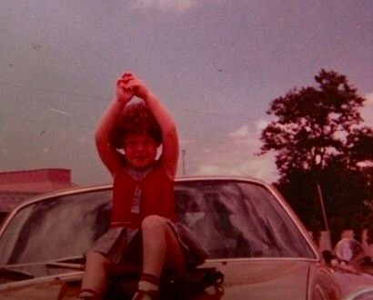 Well before my first driving lesson, when I still thought it was ok to sit on cars.