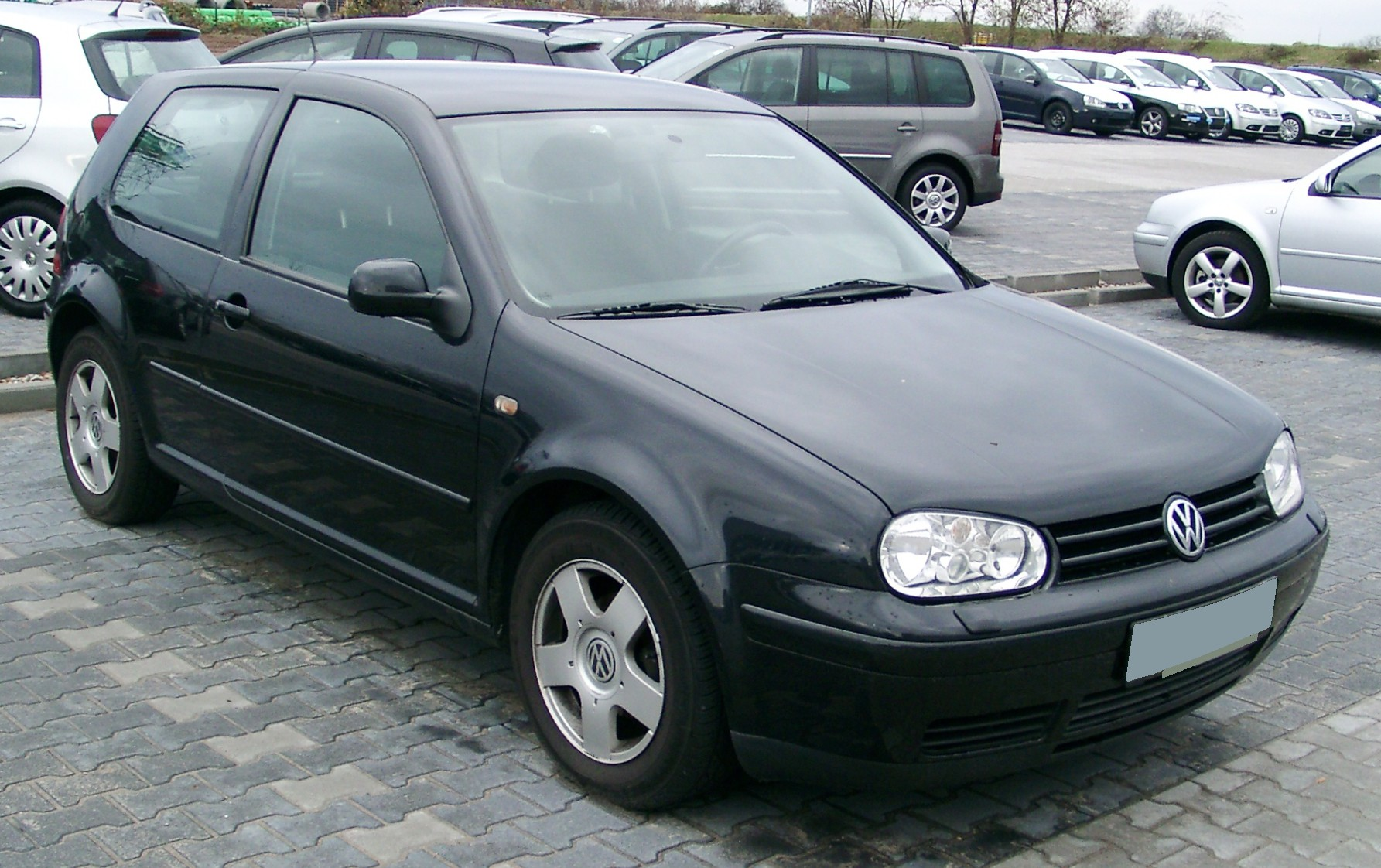 The first car I bought looked just like this VW Golf. (image courtesy of wikimedia commons)