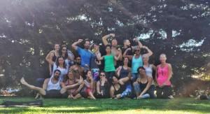Our spirited yogi community at MacKenzie Miller's yoga retreat in Napa, CA.