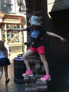 Wizard Casts A Spell at Diagon Alley.